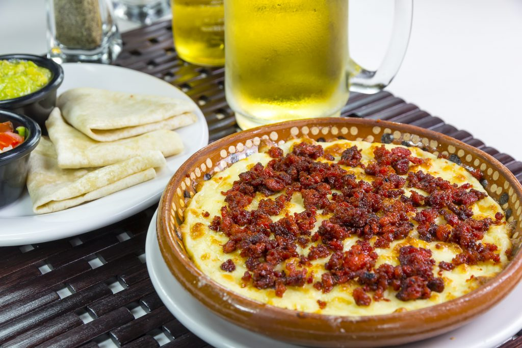 Specialty Mexican food- chorizo queso fundido