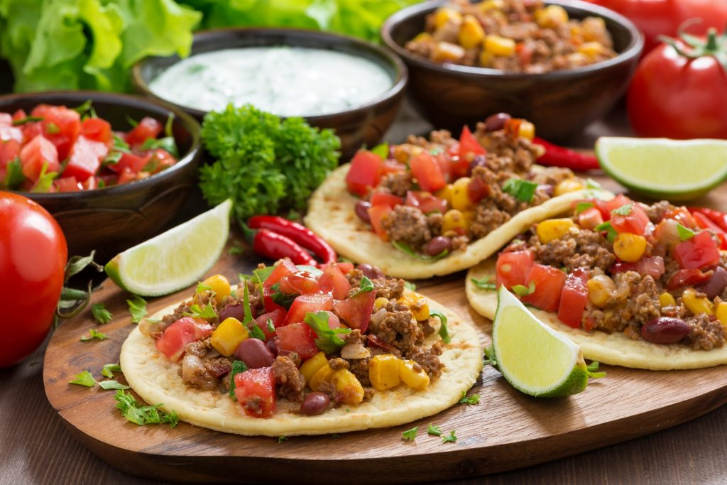 Tacos made with specialty Mexican meat